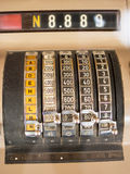 A Closeup of an old cash register Royalty Free Stock Photos