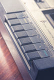 Closeup old cassette player Stock Photography