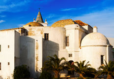 Closeup of Old  Cathedral in  Cadiz Stock Image