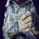 Text thank you veterans in a dog tag Royalty Free Stock Images