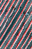 Closeup old color fabric black and red. For background Royalty Free Stock Image