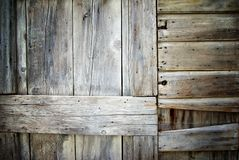 Closeup of old damaged wood planks texture background Royalty Free Stock Images