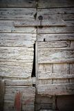 Closeup of old damaged wood planks texture background Royalty Free Stock Photography