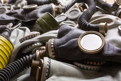 Old gas masks Stock Image