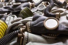 Old gas masks Stock Image