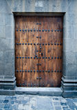 A closeup of an old door Royalty Free Stock Images