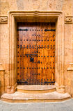 A closeup of an old door Stock Image