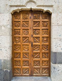 A closeup of an old door Stock Photo