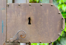 Closeup of an old door lock Stock Images