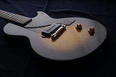Closeup of old electric guitar. Detail, selective focus. Stock Image