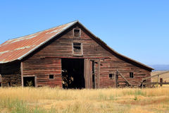 Closeup of Old Farm Barn Stock Images