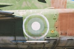 Closeup Of Old Fighter Military Jet Aircraft Stock Photo