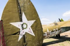 Old Fighter Military Jet Aircraft Stock Photos