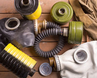 Old gas masks Stock Images