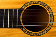 Closeup of an old guitar Royalty Free Stock Photos