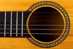 Closeup of an old guitar Royalty Free Stock Photos