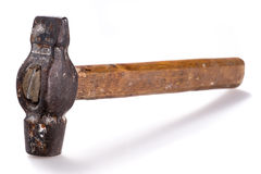 Closeup of old hammer Stock Images
