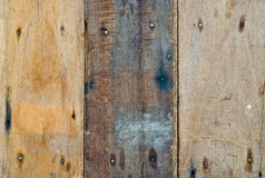 Closeup old hardwood plank Stock Photography