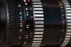 Closeup old lens Royalty Free Stock Images