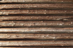 Closeup of old  log wall Stock Photography