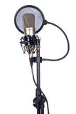 Closeup of an old microphone Stock Image