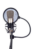 Closeup of an old microphone Royalty Free Stock Photos