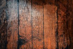 Closeup of old natural wood grunge texture. Dark surface with ol Royalty Free Stock Photo