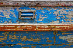 Closeup of old paintwork. On boat Stock Images