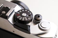 Closeup of an old photo camera Stock Image