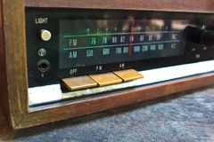 Closeup of an old radio. Stock Photo