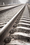 Closeup of an old railway Stock Photo