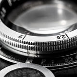 Closeup of old retro film Stock Photography