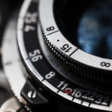 Closeup of old retro film camera Royalty Free Stock Photo
