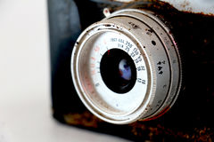 Closeup of old retro rusty film camera Royalty Free Stock Photos