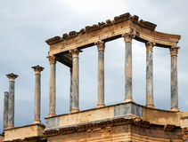 Closeup of Old Roman Theatre Royalty Free Stock Photography