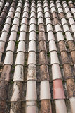 Closeup of old roof tiles Stock Images