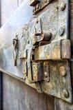 Closeup of Old Rusty Door Latch Royalty Free Stock Photo