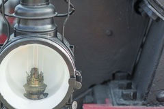 Closeup of an old steam locomotive Stock Photo