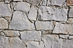 Closeup of old stone wall Royalty Free Stock Images