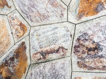 Closeup of the old stone wall. Stock Photos