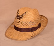 Old straw hat Stock Photography