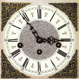 Closeup of old table clock Royalty Free Stock Images