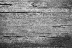 Closeup of an old teak board wall. Close-up of an old teak board wall texture background in black&white Royalty Free Stock Photo