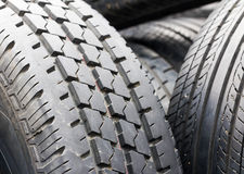 Closeup old tires Royalty Free Stock Photo