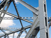 Closeup of an old truss bridge in the Netherlands Stock Photos
