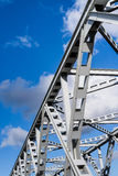 Closeup of an old truss bridge in the Netherlands Stock Image