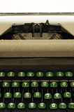 Closeup of old typewrite circa 1950s Stock Images