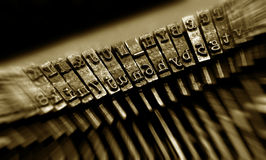 Closeup of an old typewriter Stock Photos