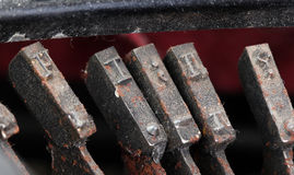 Closeup of old typewriter buttons Stock Photography