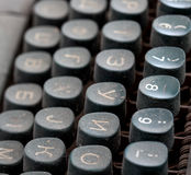 Closeup of old typewriter buttons Royalty Free Stock Photography